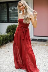 Strapless Jumpsuit Front View
