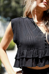 Black - Ruffled Top from Dress Up