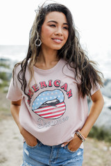 Blush - American Dreamer Graphic Tee from Dress Up
