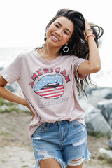 Dress Up model wearing the American Dreamer Graphic Tee