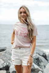 Model wearing the That Will Be Nice Graphic Tee