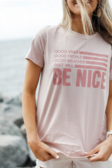 Light Pink - That Will Be Nice Graphic Tee from Dress Up