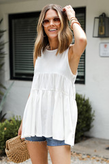 White - Tiered Tank from Dress Up