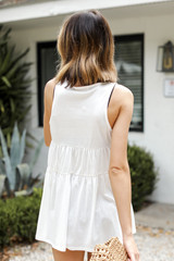 Tiered Tank in White Back View