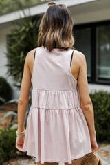 Tiered Tank in Blush Back View
