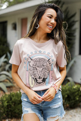Blush - Tiger Love Graphic Tee from Dress Up