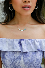 Model wearing a Beaded Necklace