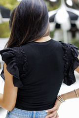 Ruffled Top Back View