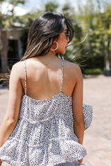 Spotted Babydoll Tank Back View