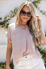 Blush - Spotted Blouse