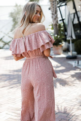 Spotted Jumpsuit Back View