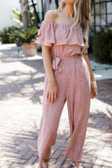 Dress Up model wearing a Spotted Jumpsuit