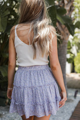 Floral Mini Skirt Back View