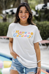 Dress Up model wearing the Have A Good Day Graphic Tee