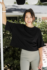 Black - Cropped Tee from Dress Up