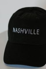 Embroidered Hat in Black