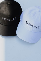 Flat Lay of both of the Nashville Embroidered Caps