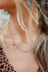 Gold - Star and Moon Charm Necklace