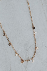 Gold - Star and Moon Charm Necklace from Dress Up
