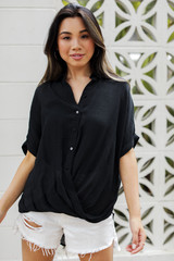 Black - Button-Up Top