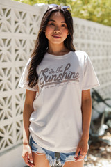 Natural - Be The Sunshine Graphic Tee from Dress Up