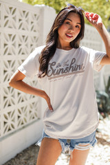Dress Up model wearing the Be The Sunshine Graphic Tee