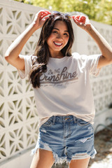 Model wearing the Be The Sunshine Graphic Tee