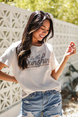 Be The Sunshine Graphic Tee Front View on model