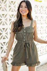 Ruffled Romper Front View