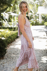 Spotted Maxi Dress Side View