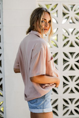 Linen Button-Up Top Side View