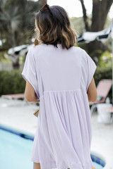 Babydoll Dress in Lavender Back View