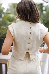 Ivory - Knit Crop Top from Dress Up
