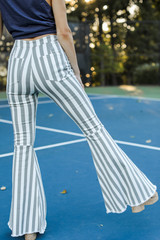 Striped Flare Jeans Back View