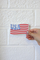 Red - USA Flag Sticker from Dress Up