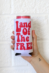 Land Of The Free Koozie from Dress Up
