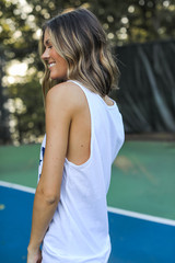 USA Star Graphic Tank in White Side View