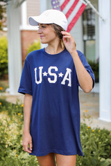 Dress Up model wearing a USA Star Graphic Tee