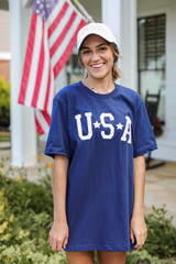 USA Star Graphic Tee Front View