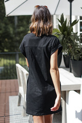 Everyday T-Shirt Dress in Black Back View