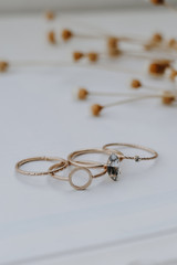 Gold - Ring Set from Dress Up