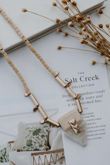 Natural - Beaded Necklace from Dress Up