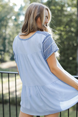 Blue - Striped Top from Dress Up