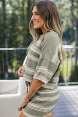 Striped Knit Top Side View