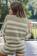 Striped Knit Top Back View