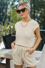 Ivory - Knit Shorts from Dress Up