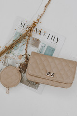 Ivory - Quilted Crossbody Bag