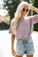 Mauve - Smocked Top Front View