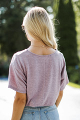 Smocked Top in Mauve Back View