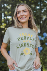 Sage - Treat People With Kindness Graphic Tee from Dress Up